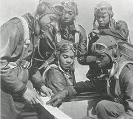 This image has an empty alt attribute; its file name is tuskegee_airmen_2_small.jpg